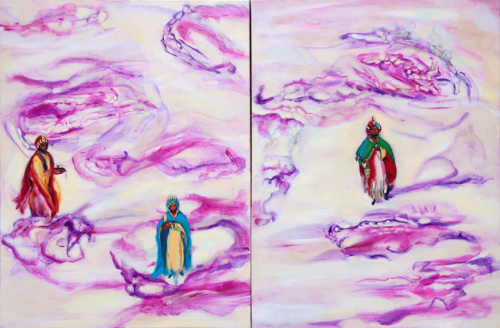 "Fleet of Balthazar (diptych)  40"" x 60""  Oil on canvas  2020"